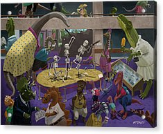 Cartoon Dinosaur Museum Acrylic Print