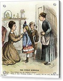 Cartoon Irish Immigrants, 1873 Acrylic Print by Granger