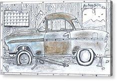 Cartoon Rustic Car  Acrylic Print