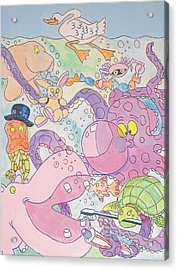 Cartoon Sea Creatures Acrylic Print
