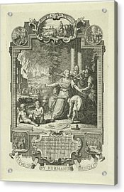 Cartouche With Allegory Of Jewish History Acrylic Print