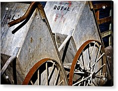Acrylic Print featuring the photograph Carts Before The Catch by Sherry Davis
