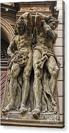 Caryatid In Prague - 02 Acrylic Print by Gregory Dyer