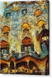 Casa Battlo Acrylic Print by Mo T