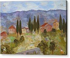 Casas De Segovia Acrylic Print