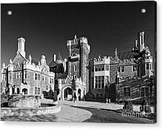 Casa Loma In Toronto In Black And White Acrylic Print