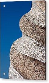 Casa Mila Abstract Chimney Detail In Barcelona Acrylic Print