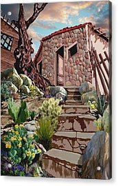 Casa Tijuana Acrylic Print by Ron Chambers