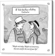 Casablanca Parody.  If Rick Was A Building Acrylic Print