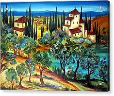 Casali Toscani-tuscany Farmhouses Acrylic Print