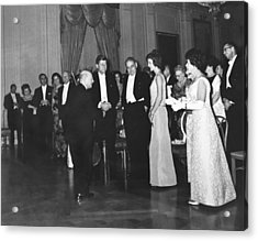 Casals White House Convert Acrylic Print by Underwood Archives