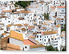 Casares Rooftops Acrylic Print by Piet Scholten