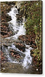 Cascade At High Falls Creek Near Mount Cheaha Alabama Acrylic Print by Mountains to the Sea Photo