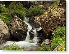 Acrylic Print featuring the photograph Cascade In Lower Ice Lake Basin by Alan Vance Ley