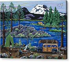 Cascade Lake Sparks Acrylic Print