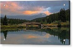Cascade Ponds Sunrise Acrylic Print