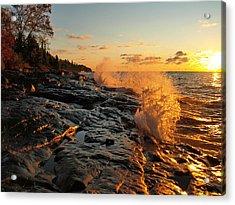 Cascade Sunrise Acrylic Print by Melissa Peterson