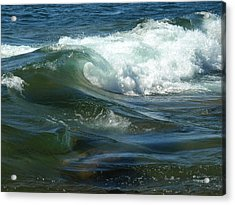 Cascade Wave Acrylic Print by James Peterson