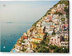 Cascades Of Positano City Acrylic Print