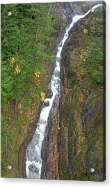 Cascades Waterfall Acrylic Print by Tom Norring