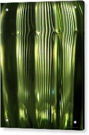 Cascading Green Acrylic Print by Leena Pekkalainen