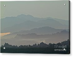 Acrylic Print featuring the photograph Cascading Hills  by Gary Bridger