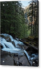 Cascading Mountain Falls Acrylic Print by Mike Reid
