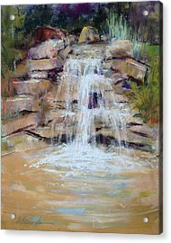 Cascading Water Acrylic Print by Beverly Amundson