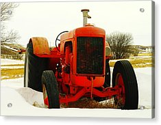 Case Tractor Acrylic Print by Jeff Swan