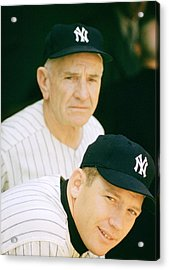 Casey Stengel And Mickey Mantle Acrylic Print by Retro Images Archive