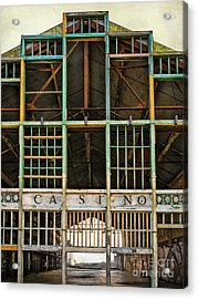 Casino In Multi-color Acrylic Print by Colleen Kammerer
