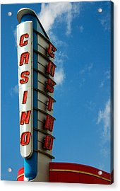 Casino Sign Acrylic Print by Norman Pogson