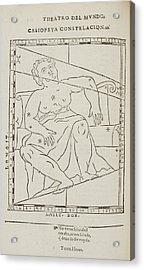 Casiopeya Star Constellation Acrylic Print by British Library