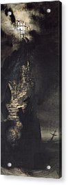 Casquets Lighthouse Acrylic Print by Victor Hugo