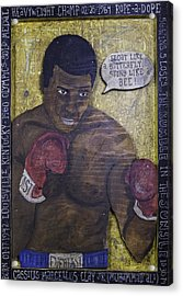 Acrylic Print featuring the painting Cassius Clay - Muhammad Ali by Eric Cunningham