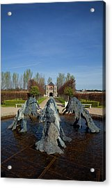 Cast Bronze Fountain By Lynda Benglis Acrylic Print by Panoramic Images
