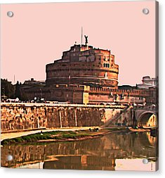 Acrylic Print featuring the photograph Castel Sant 'angelo by Brian Reaves