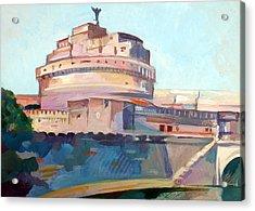Castel Sant' Angelo Acrylic Print by Filip Mihail