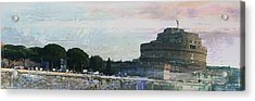 Acrylic Print featuring the painting Castel Sant'angelo     by Brian Reaves