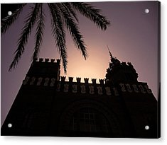 Acrylic Print featuring the photograph Castell Dels Tres Dragons ... by Juergen Weiss