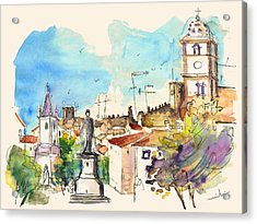 Castelo De Vide In Portugal 03 Acrylic Print by Miki De Goodaboom