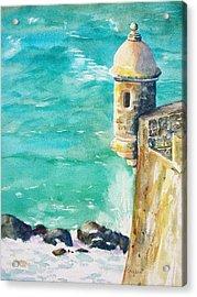 Castillo De San Cristobal Ocean Sentry  Acrylic Print
