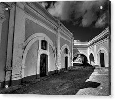 Castillo San Felipe Del Morro 003 Bw Acrylic Print