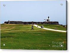 Castillo San Felipe Del Morro Acrylic Print by John Rizzuto