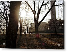 Casting A Shadow Acrylic Print by Eugene Bergeron