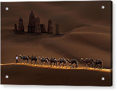 Castle And Camels Acrylic Print