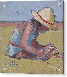 Castle Builder Beach Sand Castle Acrylic Print by Mary Hubley
