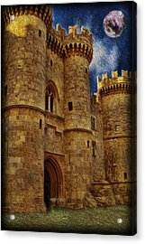 Castle By Moonlight Acrylic Print by Lee Dos Santos