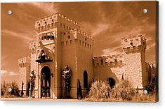 Acrylic Print featuring the photograph Castle By The Road by Rodney Lee Williams