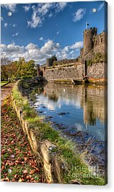 Castle Conwy Acrylic Print by Adrian Evans